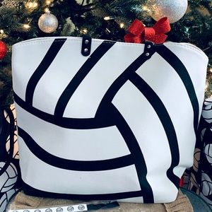 🏐NEW! Volleyball large canvas tote
